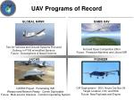 uav programs of record