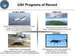 uav programs of record