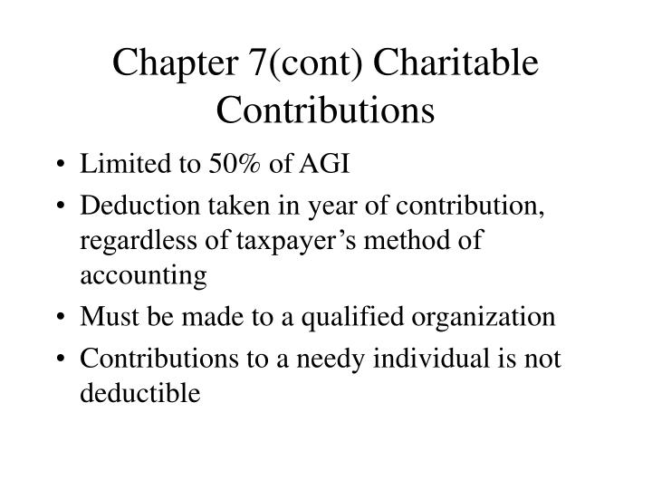 chapter 7 cont charitable contributions n.