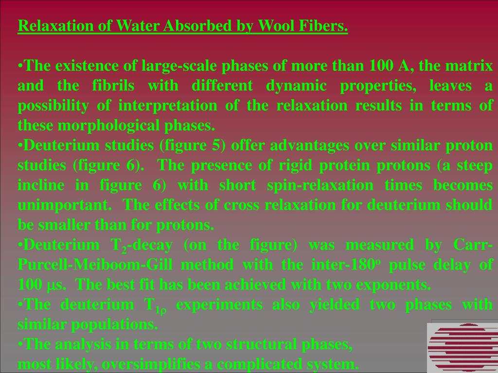 Relaxation of Water Absorbed by Wool Fibers.