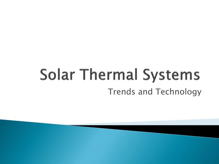 solar thermal systems n.