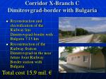 corridor x branch c dimitrovgrad border with bulgaria