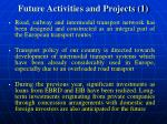 future activities and projects 1