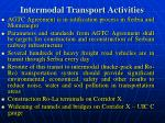 intermodal transport activities