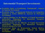 intermodal transport investments