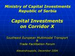 ministry of capital investments republic of serbia
