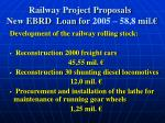 railway project proposals new ebrd loan for 2005 58 8 mil