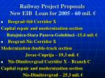 railway project proposals new eib loan for 2005 60 mil