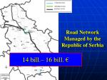 road network managed by the republic of serbia
