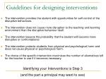 guidelines for designing interventions1