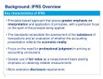 background ifrs overview