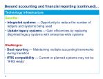 beyond accounting and financial reporting continued