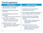 the eu experience