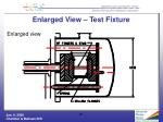 enlarged view test fixture