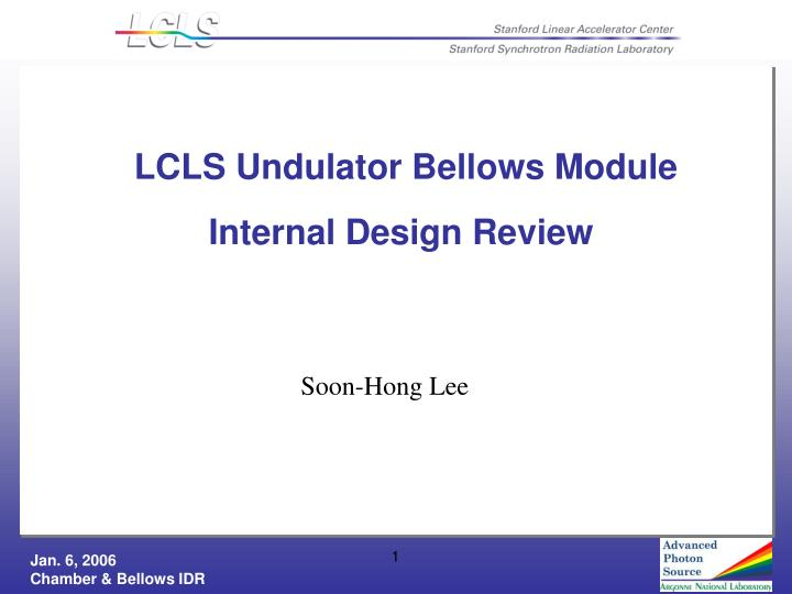 lcls undulator bellows module n.