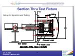 section thru test fixture