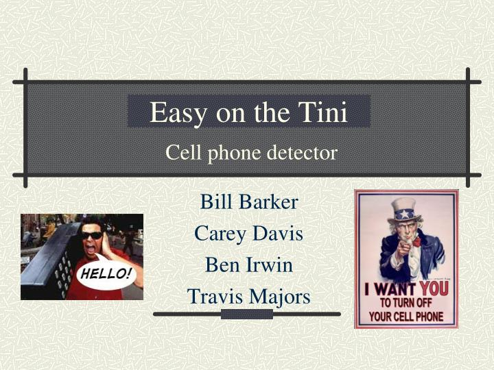 easy on the tini n.