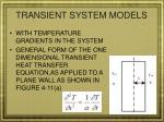 transient system models