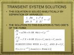 transient system solutions1