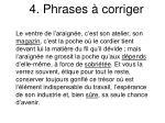 4 phrases corriger