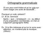 orthographe grammaticale1