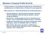 mechserv company profile cont d
