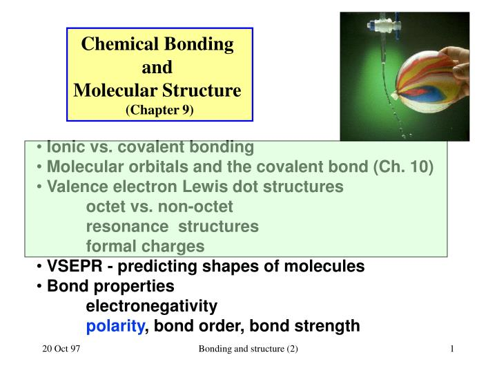 chemical bonding and molecular structure chapter 9 n.