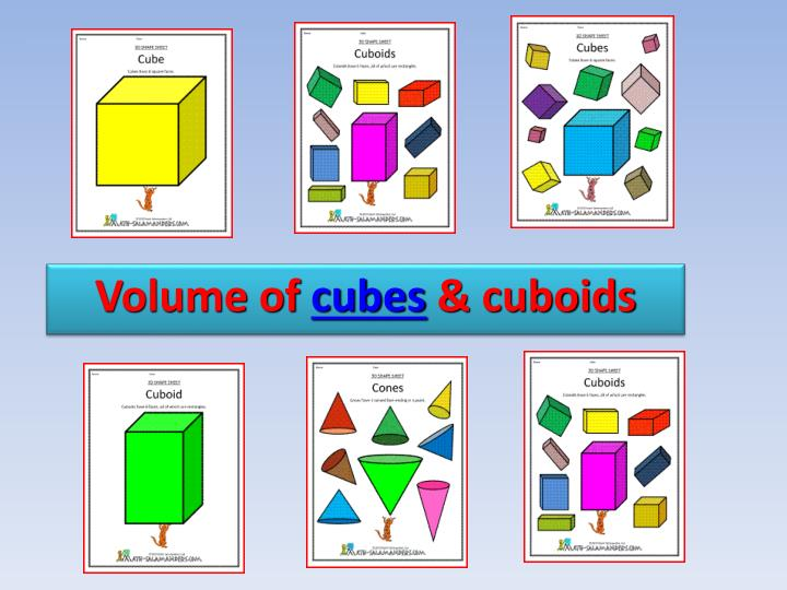 volume of cubes cuboids n.