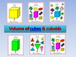volume of cubes cuboids