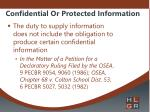 confidential or protected information