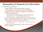 responding to requests for information2