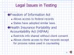 legal issues in testing1