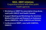nida sbirt initiatives cooperative actions with other public health agencies