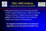 nida sbirt initiatives cooperative actions with who