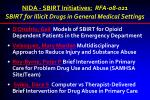 nida sbirt initiatives rfa 08 021 sbirt for illicit drugs in general medical settings
