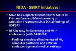 nida sbirt initiatives