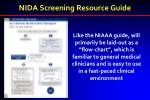 nida screening resource guide3