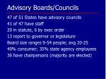 advisory boards councils