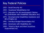 key federal policies