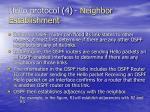 hello protocol 4 neighbor establishment