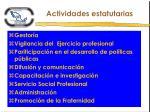 actividades estatutarias1