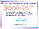 electric dipole moments polyatomic molecules30