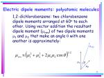 electric dipole moments polyatomic molecules32
