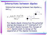 interactions between dipoles42