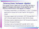 interactions between dipoles43