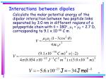 interactions between dipoles44
