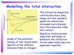 modelling the total interaction71