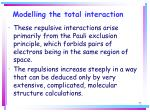 modelling the total interaction72