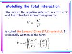 modelling the total interaction76