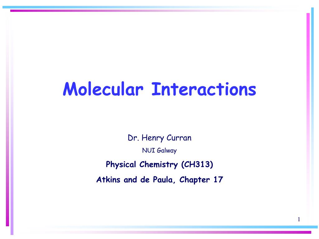 molecular interactions l.